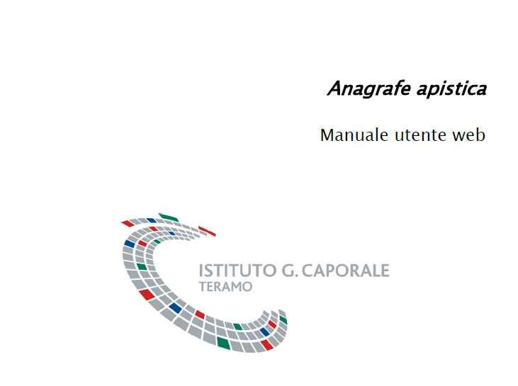 Manuale Anagrafe Apistica v.1.1