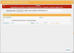 caricamento censimenti apicoltura BDA - errore bloccante